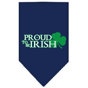 Proud to be Irish Screen Print Bandana Navy Blue Small