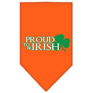 Proud to be Irish Screen Print Bandana Orange Large
