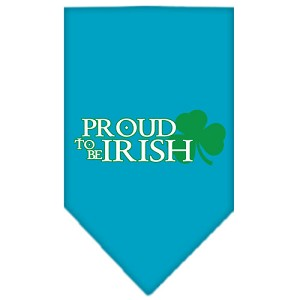 Proud to be Irish Screen Print Bandana Turquoise Small