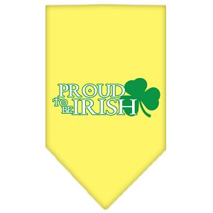 Proud to be Irish Screen Print Bandana Yellow Small