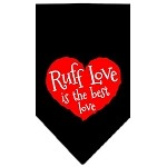 Ruff Love Screen Print Bandana Black Small