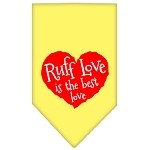 Ruff Love Screen Print Bandana Yellow Small