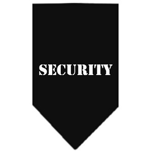 Security Screen Print Bandana Black Small