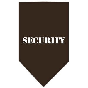 Security Screen Print Bandana Cocoa Small