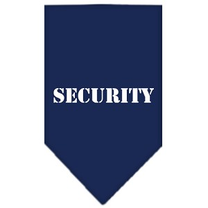 Security Screen Print Bandana Navy Blue large