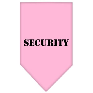 Security Screen Print Bandana Light Pink Small