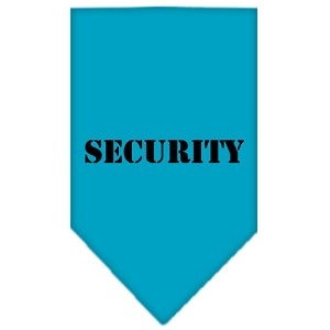 Security Screen Print Bandana Turquoise Small