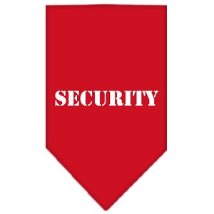 Security Screen Print Bandana Red Small