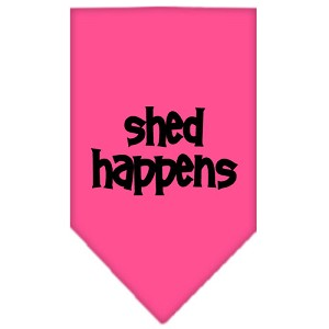 Shed Happens Screen Print Bandana Bright Pink Small