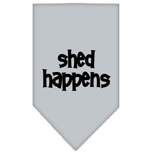 Shed Happens Screen Print Bandana Grey Small