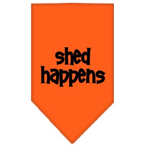 Shed Happens Screen Print Bandana Orange Small
