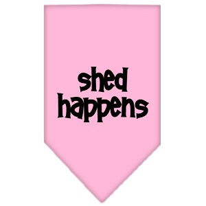 Shed Happens Screen Print Bandana Light Pink Large