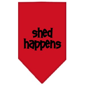 Shed Happens Screen Print Bandana Red Large