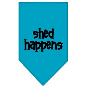 Shed Happens Screen Print Bandana Turquoise Small