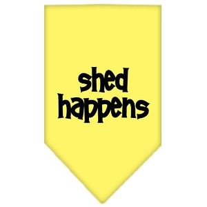 Shed Happens Screen Print Bandana Yellow Small