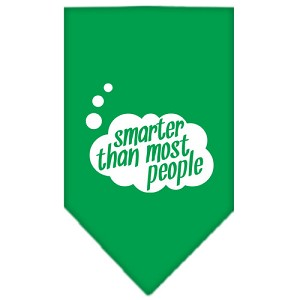 Smarter then most People Screen Print Bandana Emerald Green Large