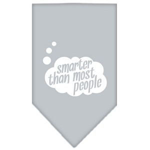 Smarter then most People Screen Print Bandana Grey Small