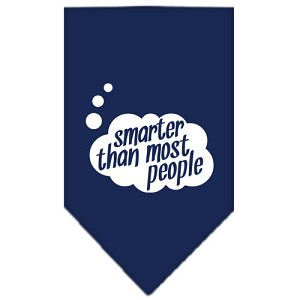Smarter then most People Screen Print Bandana Navy Blue large