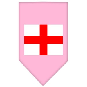 St. Georges Cross Screen Print Bandana Light Pink Small