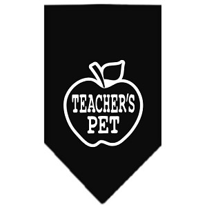 Teachers Pet Screen Print Bandana Black Large