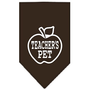 Teachers Pet Screen Print Bandana Cocoa Small