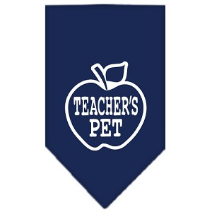Teachers Pet Screen Print Bandana Navy Blue Small
