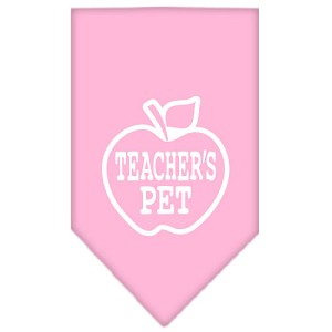 Teachers Pet Screen Print Bandana Light Pink Large