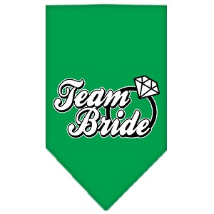 Team Bride Screen Print Bandana Emerald Green Large