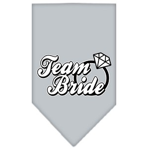 Team Bride Screen Print Bandana Grey Large