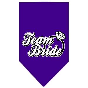 Team Bride Screen Print Bandana Purple Large