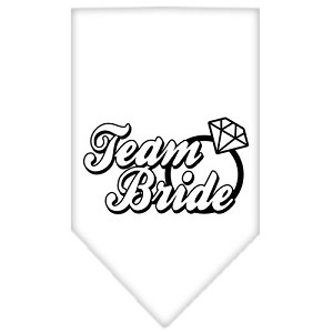 Team Bride Screen Print Bandana White Large