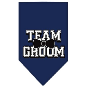 Team Groom Screen Print Bandana Navy Blue Small