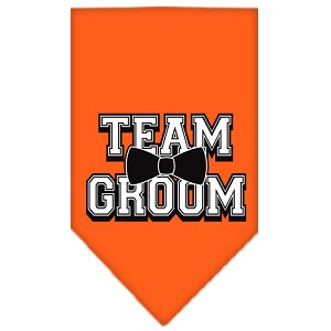 Team Groom Screen Print Bandana Orange Small