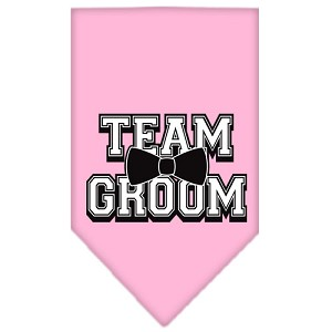 Team Groom Screen Print Bandana Light Pink Small