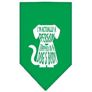 Trapped Screen Print Bandana Emerald Green Large