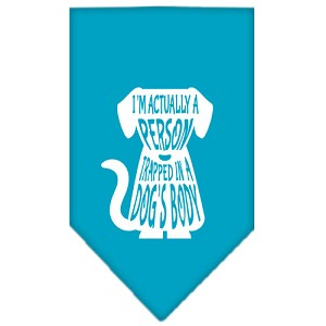 Trapped Screen Print Bandana Turquoise Large