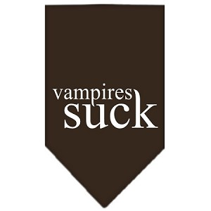 Vampires Suck Screen Print Bandana Cocoa Large