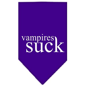 Vampires Suck Screen Print Bandana Purple Large