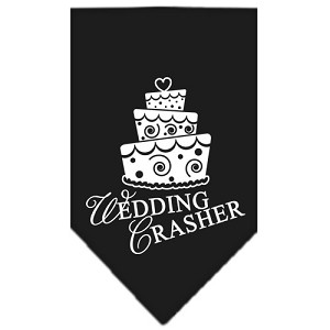 Wedding Crasher Screen Print Bandana Black Large