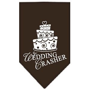 Wedding Crasher Screen Print Bandana Cocoa Small
