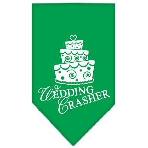 Wedding Crasher Screen Print Bandana Emerald Green Large