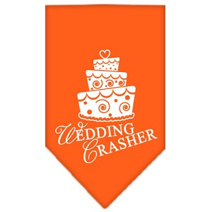 Wedding Crasher Screen Print Bandana Orange Small