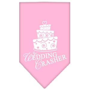 Wedding Crasher Screen Print Bandana Light Pink Small