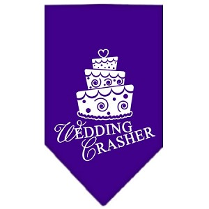 Wedding Crasher Screen Print Bandana Purple Small