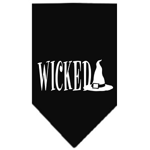 Wicked Screen Print Bandana Black Small