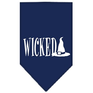 Wicked Screen Print Bandana Navy Blue large