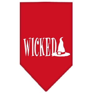 Wicked Screen Print Bandana Red Small