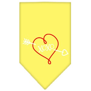 XOXO Screen Print Bandana Yellow Small
