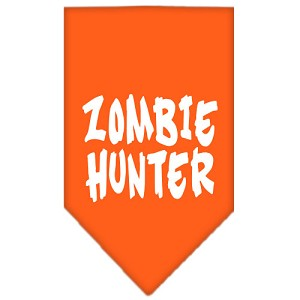 Zombie Hunter Screen Print Bandana Orange Small