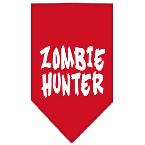 Zombie Hunter Screen Print Bandana Red Small